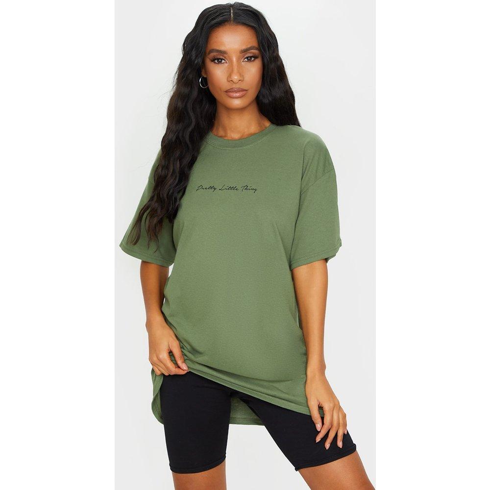 T-shirt oversize à slogan - PrettyLittleThing - Modalova