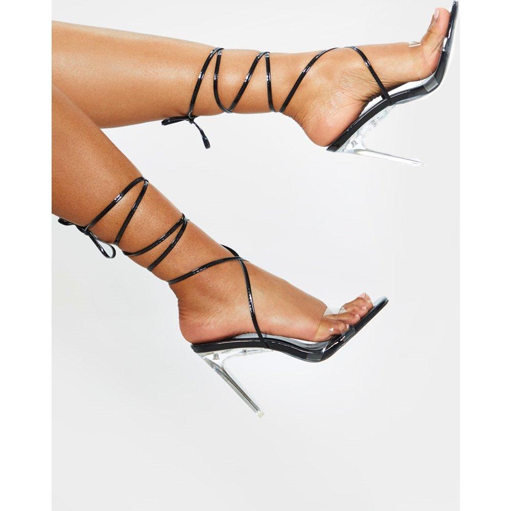 Sandales à talon transparent et lien cheville - PrettyLittleThing - Modalova