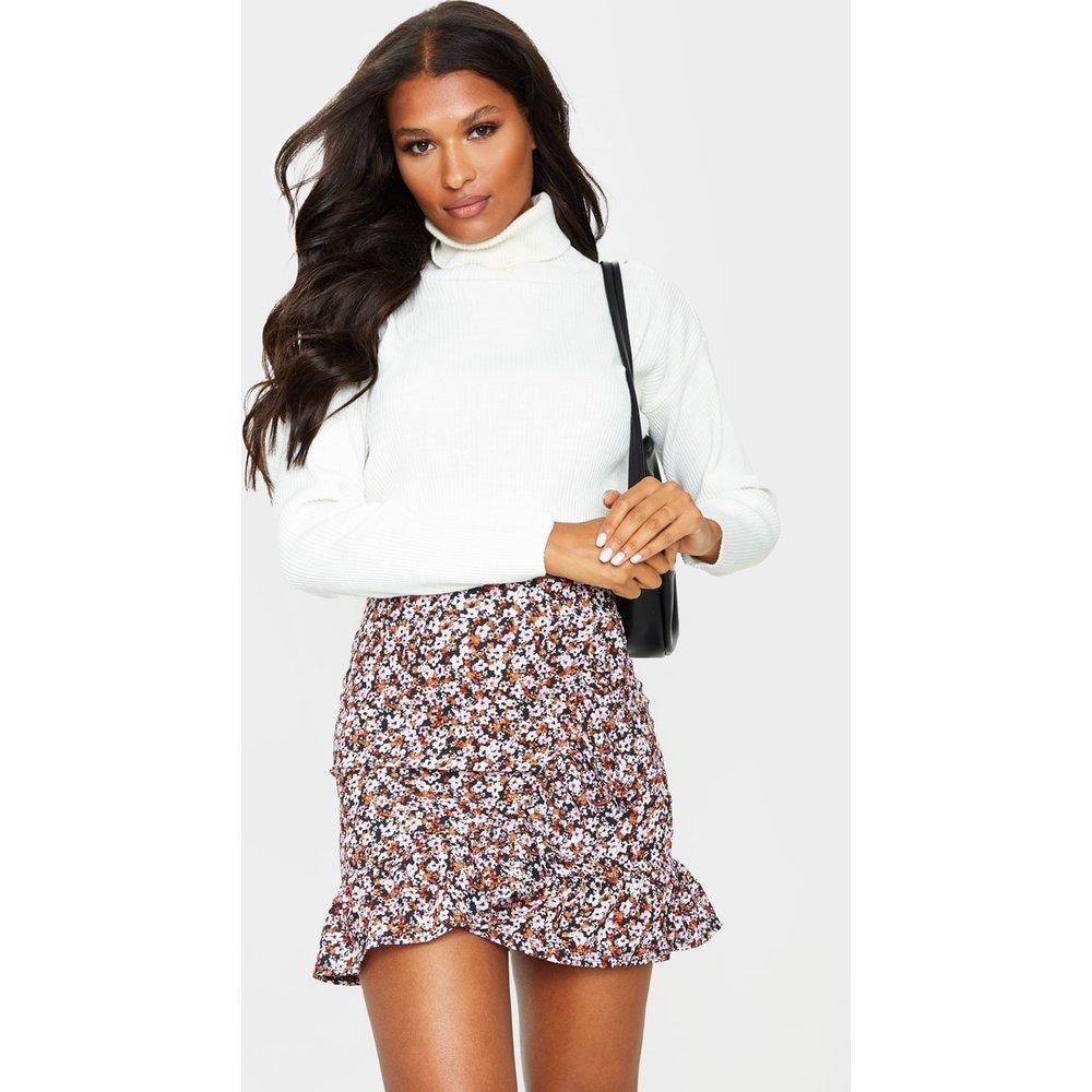 Mini-jupe portefeuille à imprimé floral et ourlet volanté - PrettyLittleThing - Modalova