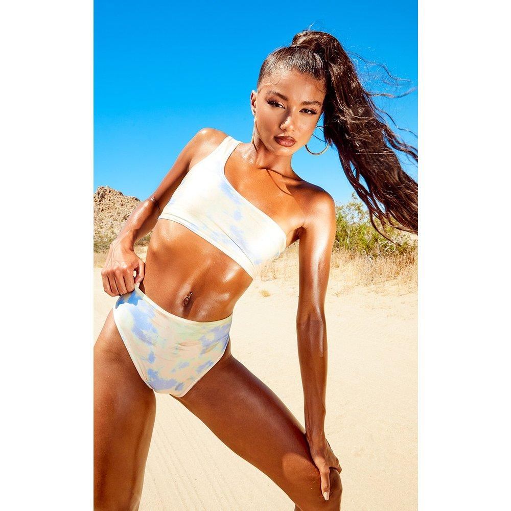 Top de bikini asymétrique tie & dye - PrettyLittleThing - Modalova