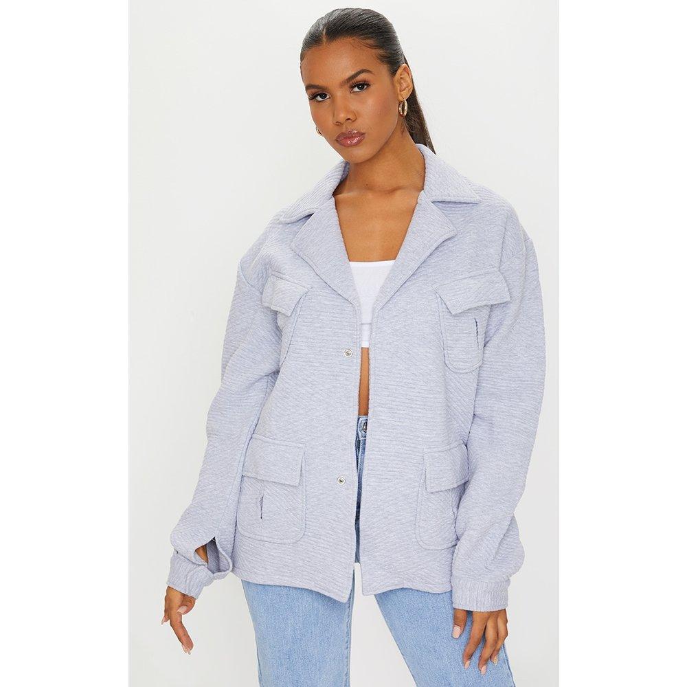 Veste style chemise oversize gaufrée - PrettyLittleThing - Modalova