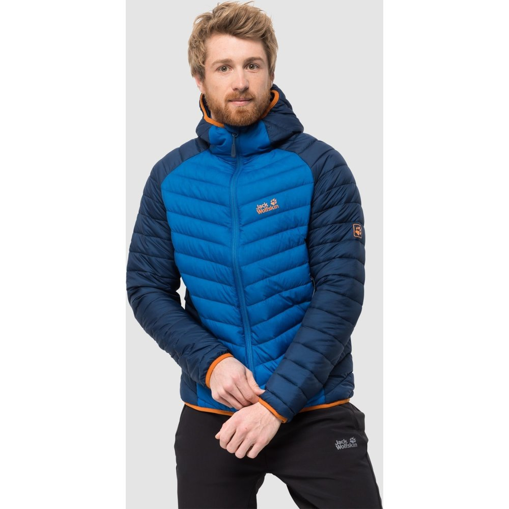 Jack Wolfskin Mens Zenon Storm Mens Jacket Windproof Waterproof Breathable Weatherproof Jacket, Men, 1203602-1062006, electric blue, XXL
