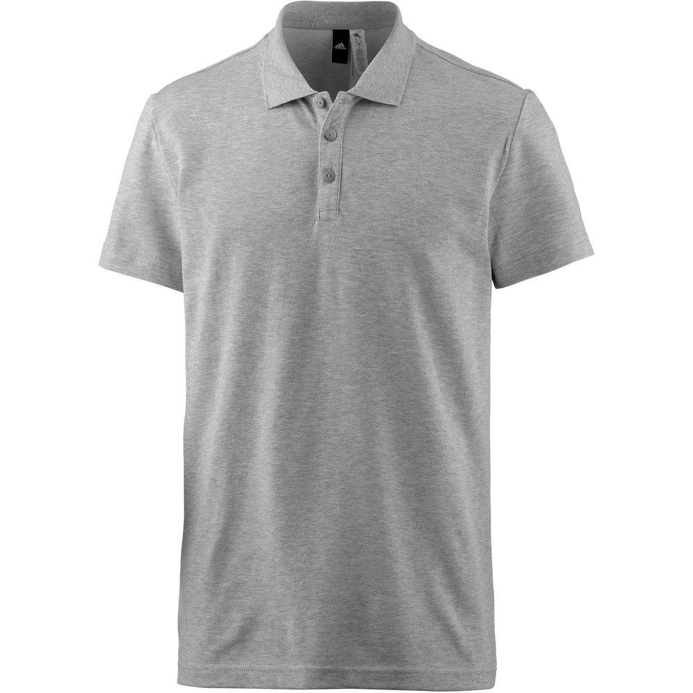 Adidas S98750 Essentials Classics Polo Shirt - Medium Grey Heather, Small