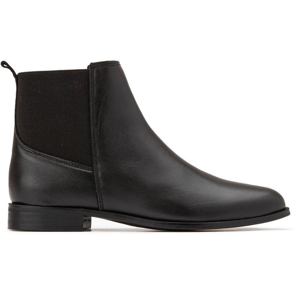 Boots en cuir talon plat - LA REDOUTE COLLECTIONS - Modalova