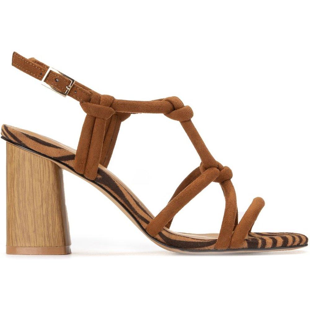 Sandales détail zébré, talon large - LA REDOUTE COLLECTIONS - Modalova