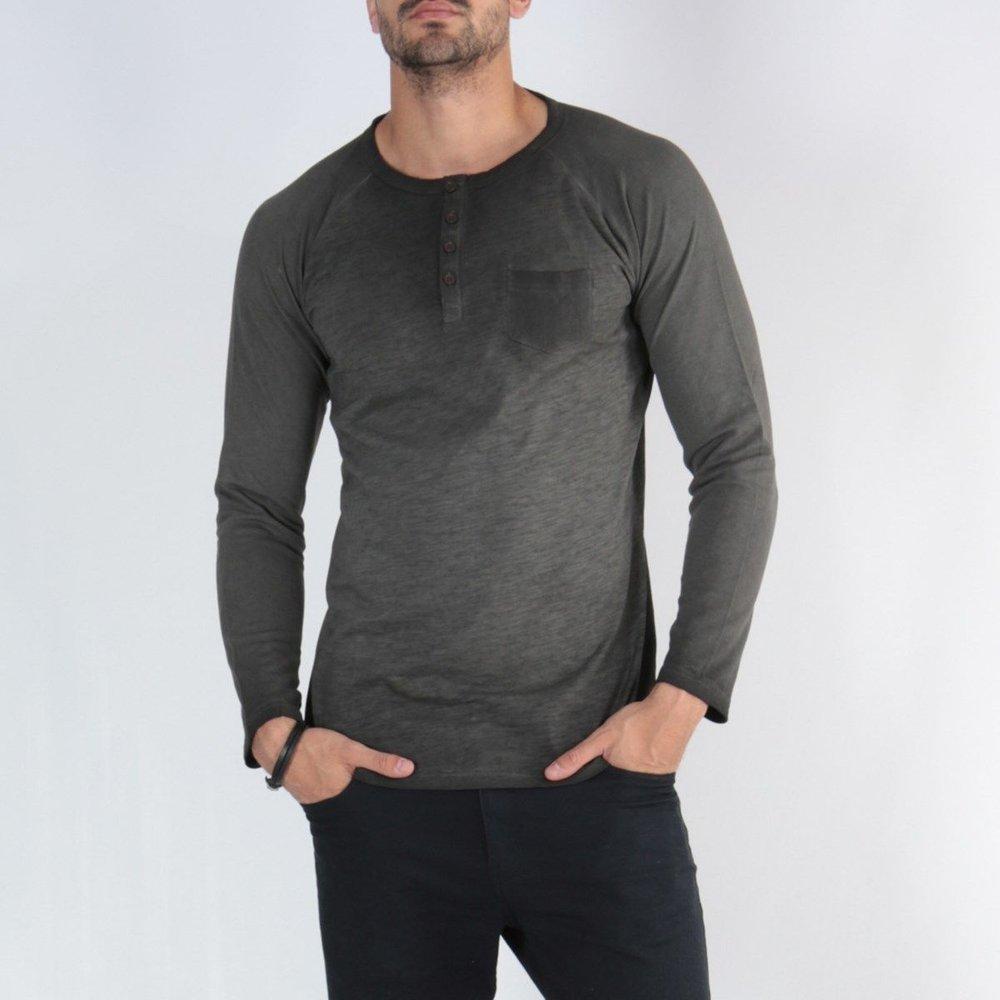 T-shirt manche longue col boutonné GAJUBE - HopenLife - Modalova