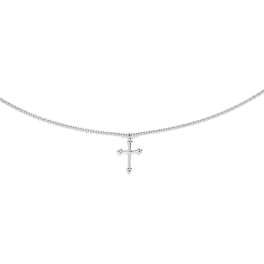 Collier argent croix - AGNES DE VERNEUIL - Modalova