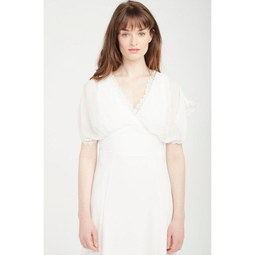 Robe de mariée longue détails col - Naf Naf - Modalova