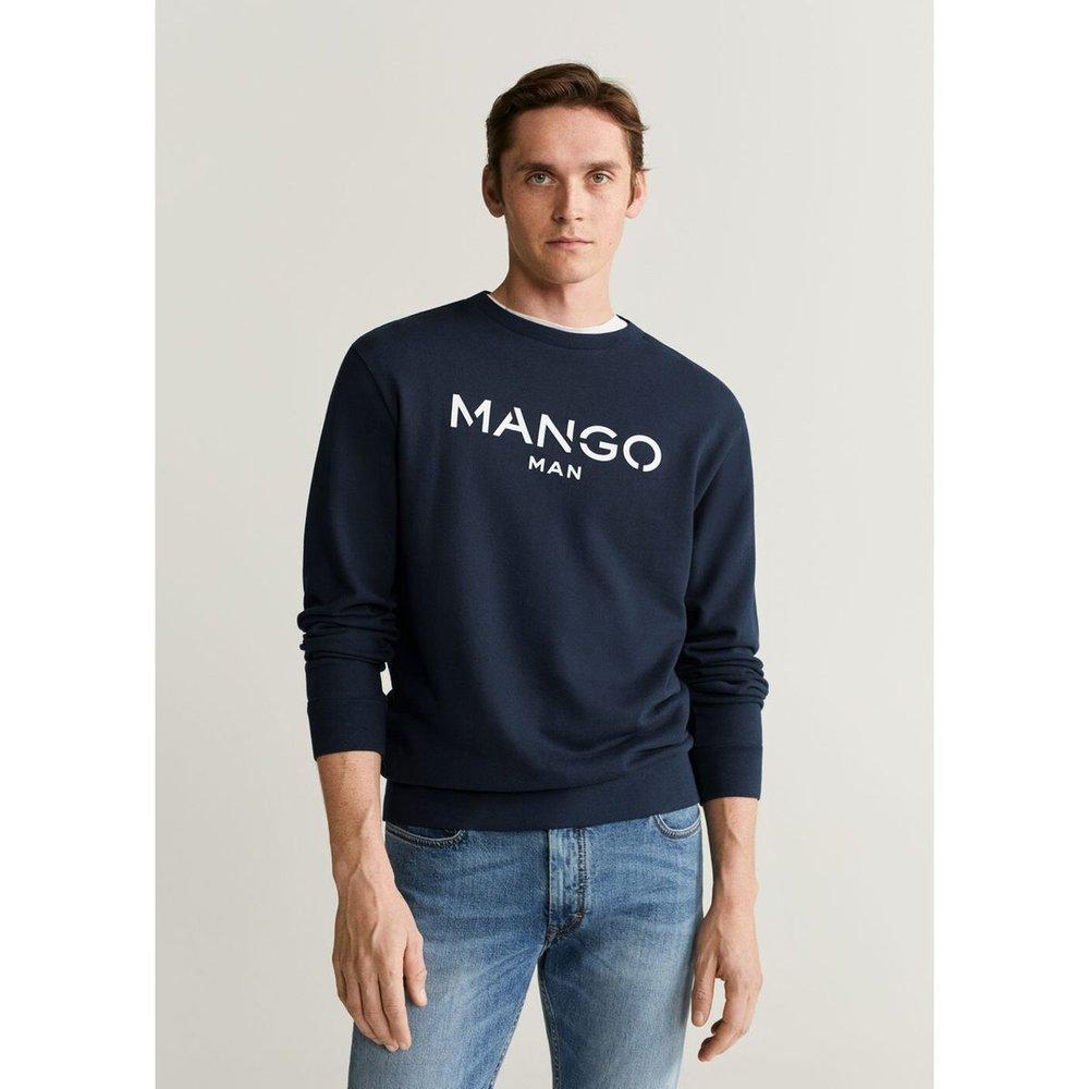 Sweat-shirt coton logo - mango man - Modalova