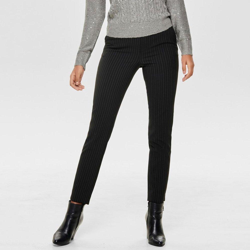 Pantalon droit rayé, Longueur 32 - Only - Modalova