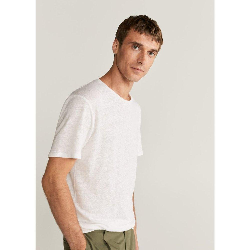 T-shirt 100% lin - mango man - Modalova