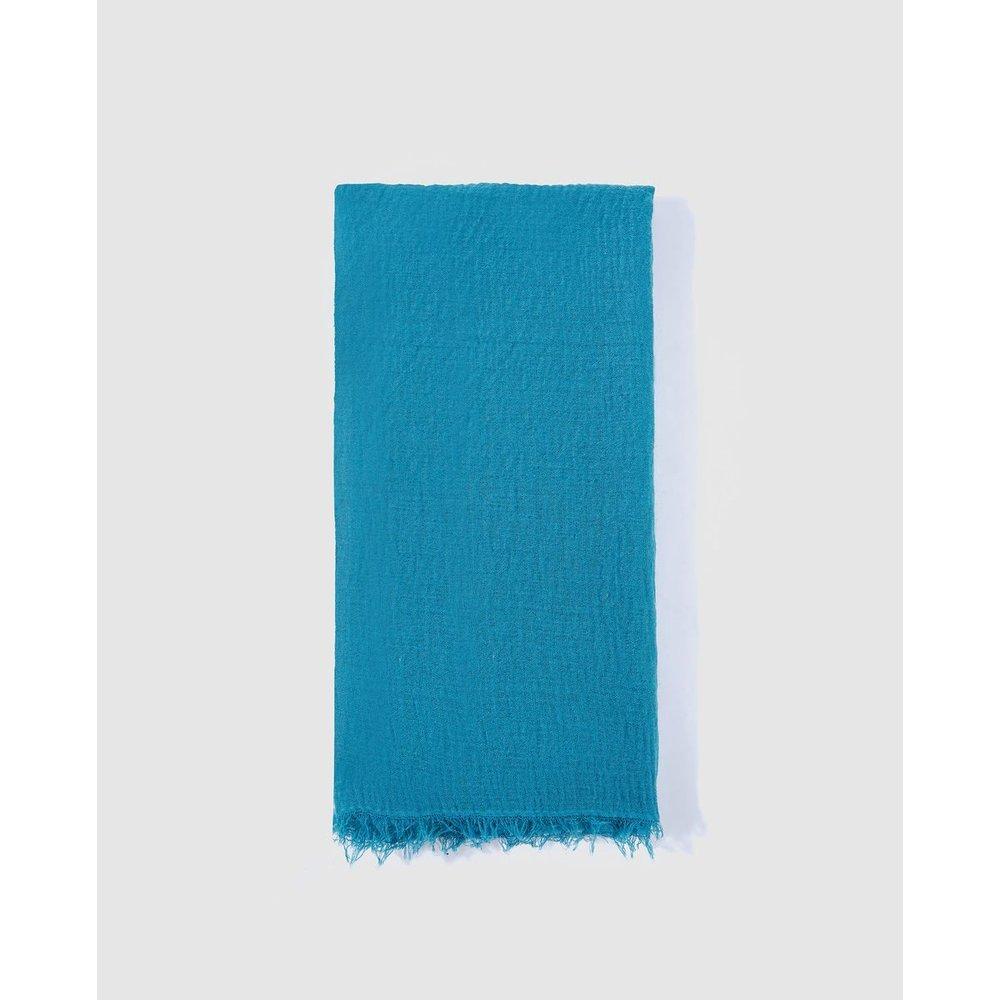Foulard uni turquoise - TINTORETTO - Modalova
