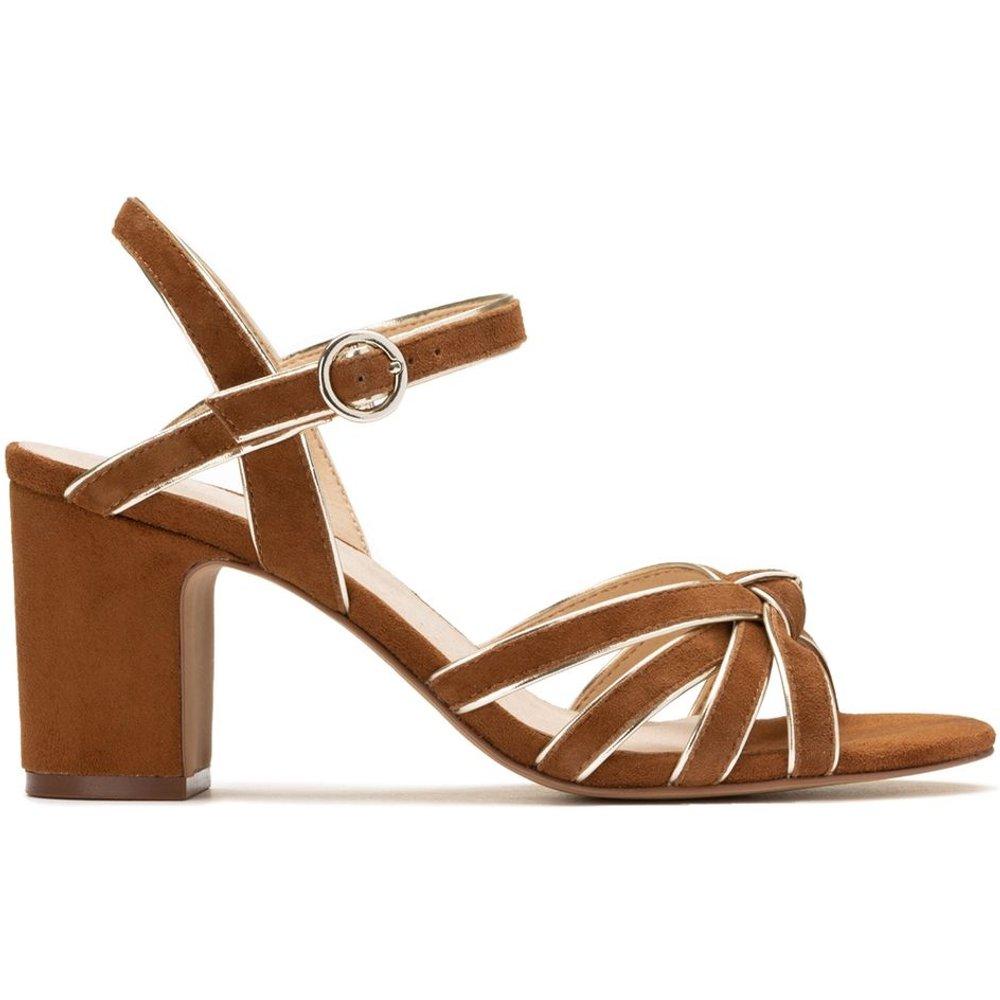Sandales en cuir détail doré - LA REDOUTE COLLECTIONS - Modalova
