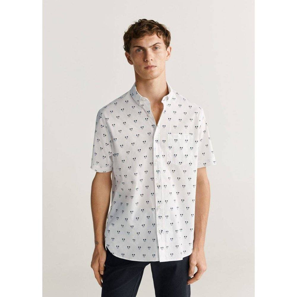 Chemise slim-fit Mickey Mouse - mango man - Modalova