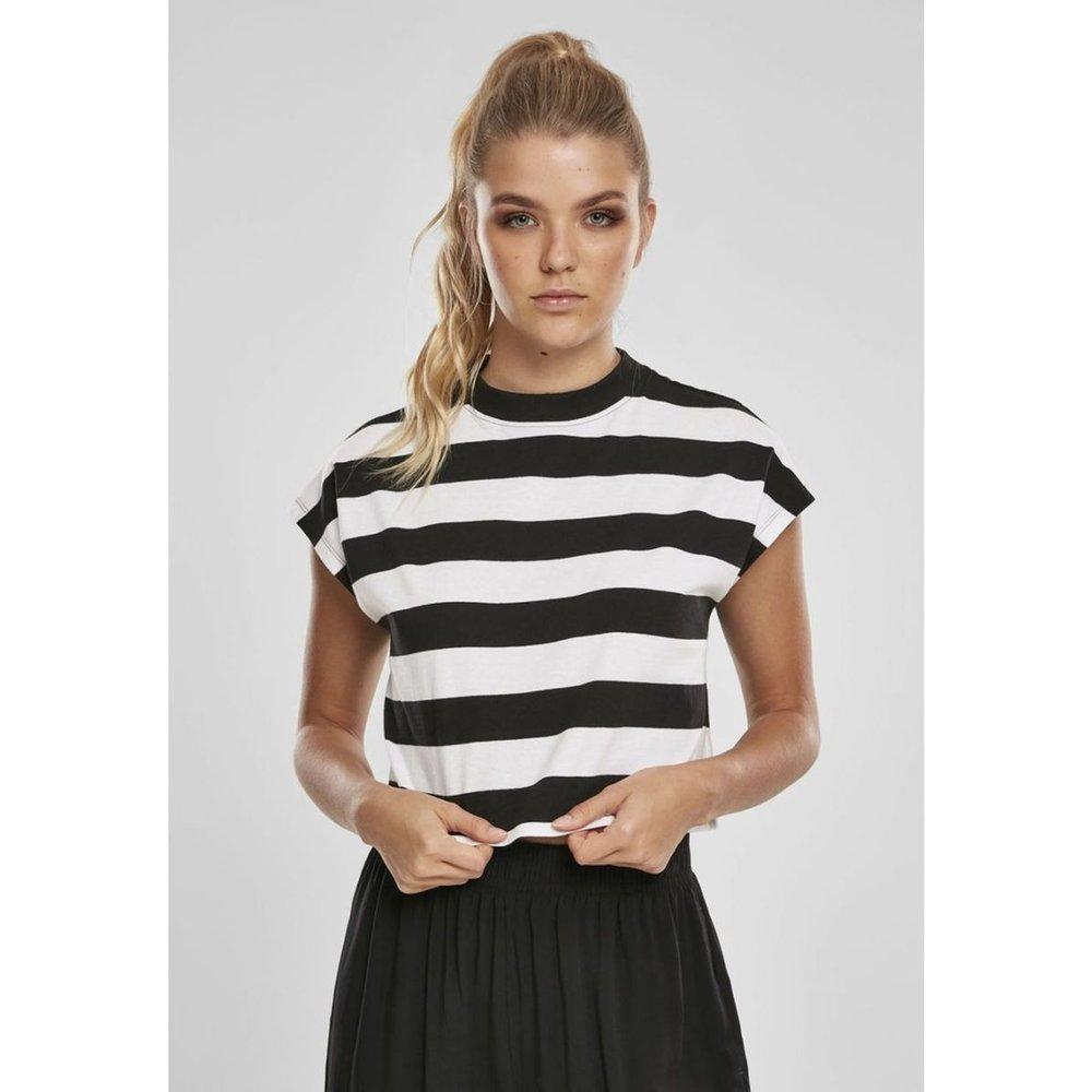 T-shirt court marinière Stripe Short Tee - URBAN CLASSICS - Modalova