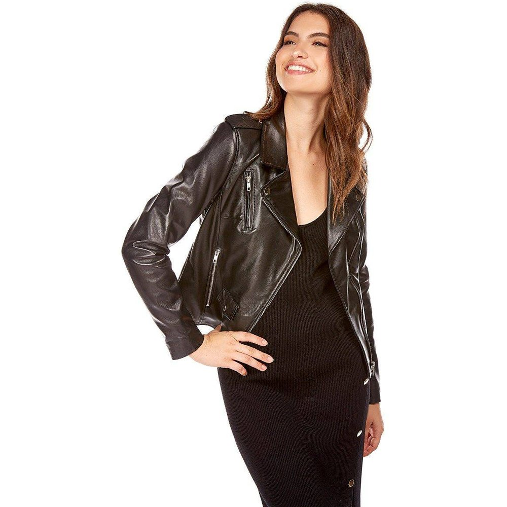 Blouson motard en cuir NOA,made in France - DKS - Modalova