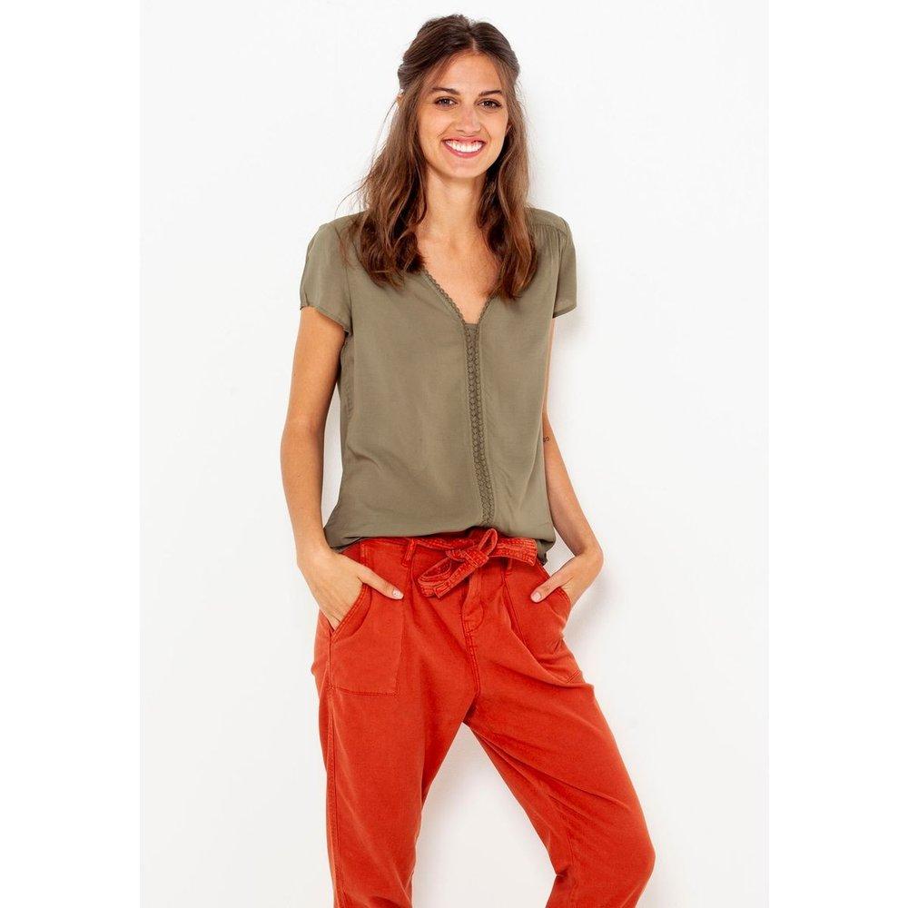 T-shirt asymétrique dentelle - CAMAIEU - Modalova