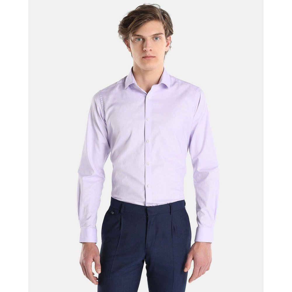Chemise slim unie - EASY WEAR - Modalova