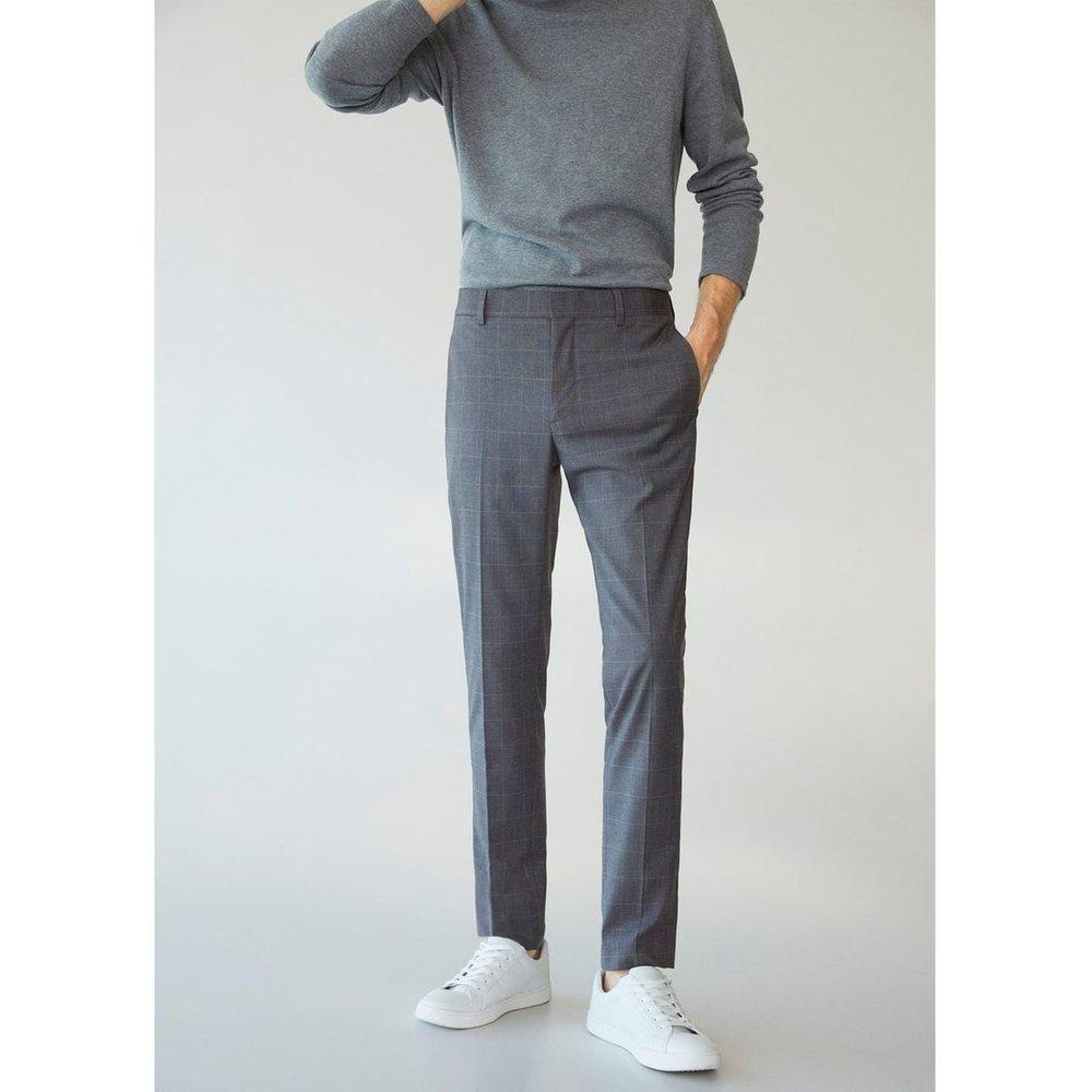 Pantalon costume super slim fit carreaux - mango man - Modalova
