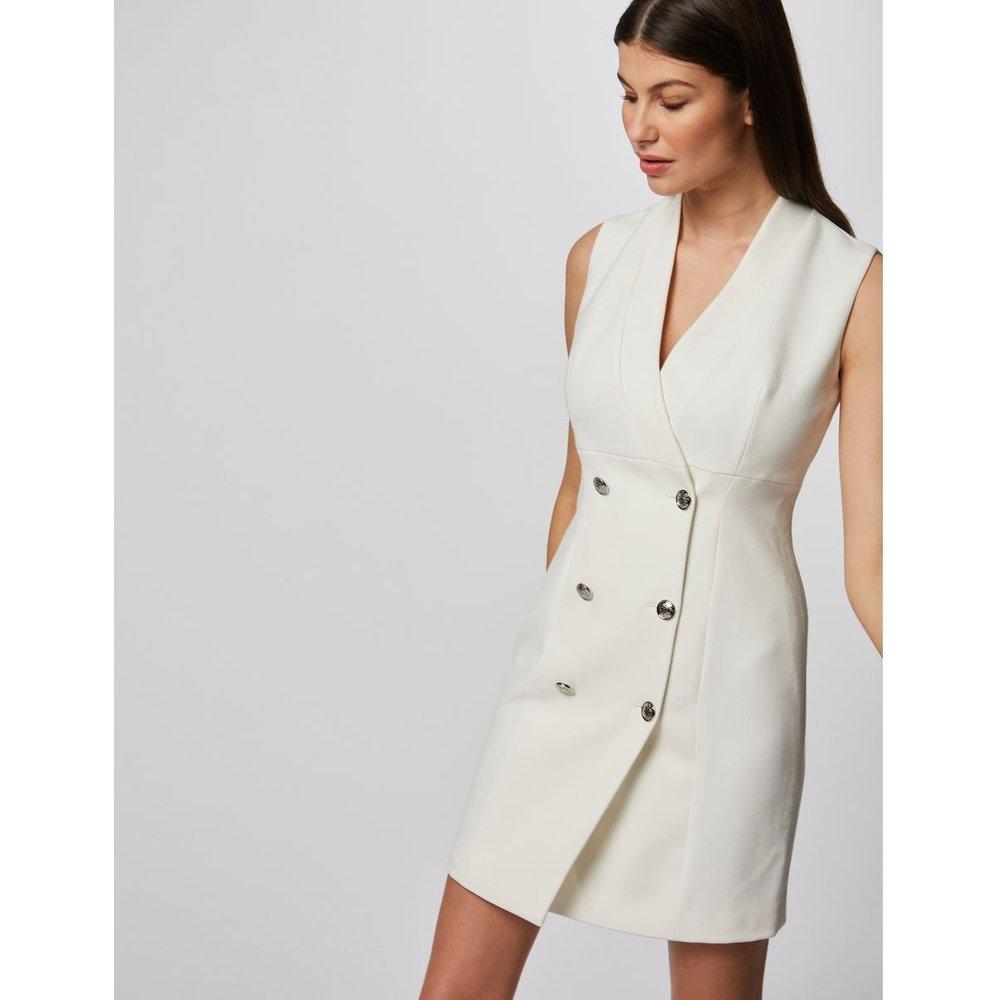 Robe portefeuille sans manches à boutons - Morgan - Modalova