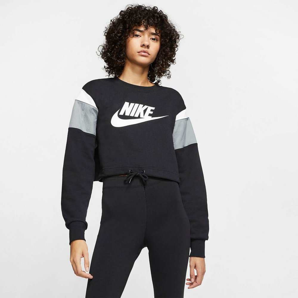 Sweat court col rond Heritage - Nike - Modalova