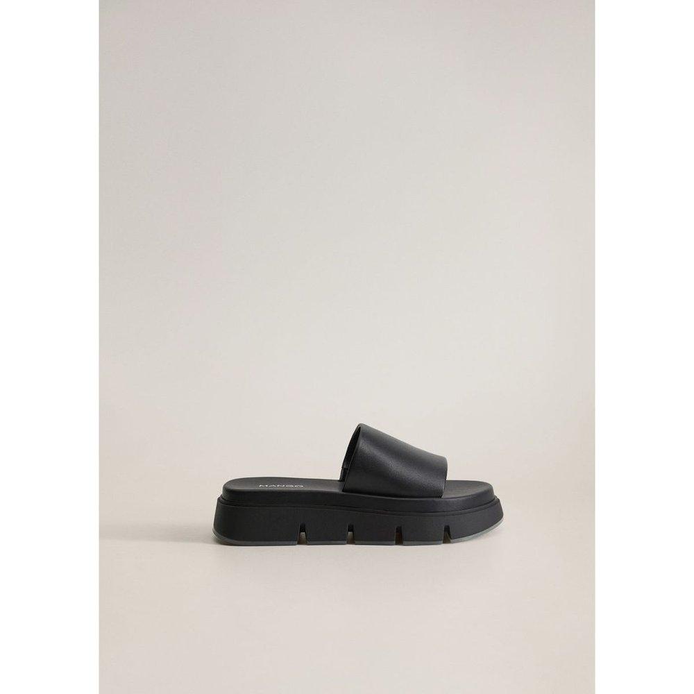 Sandales plateforme cuir - Mango - Modalova