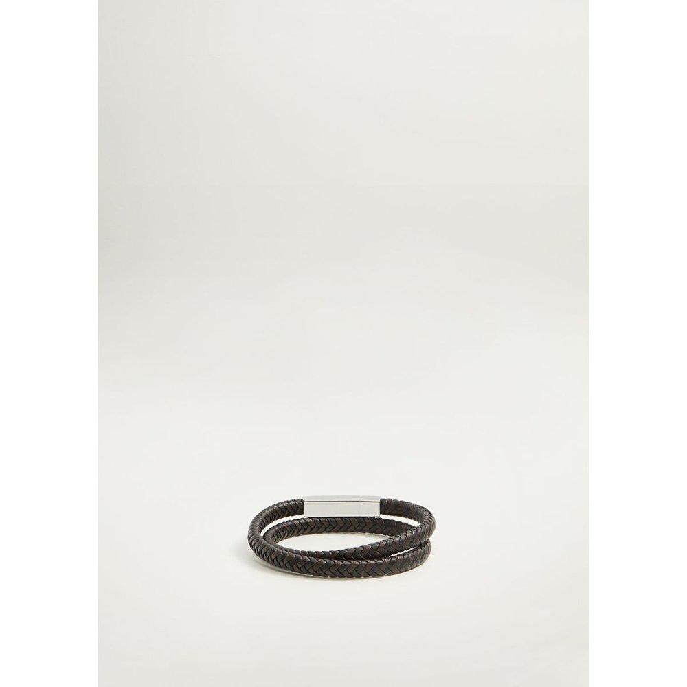 Bracelet tressé cuir - mango man - Modalova
