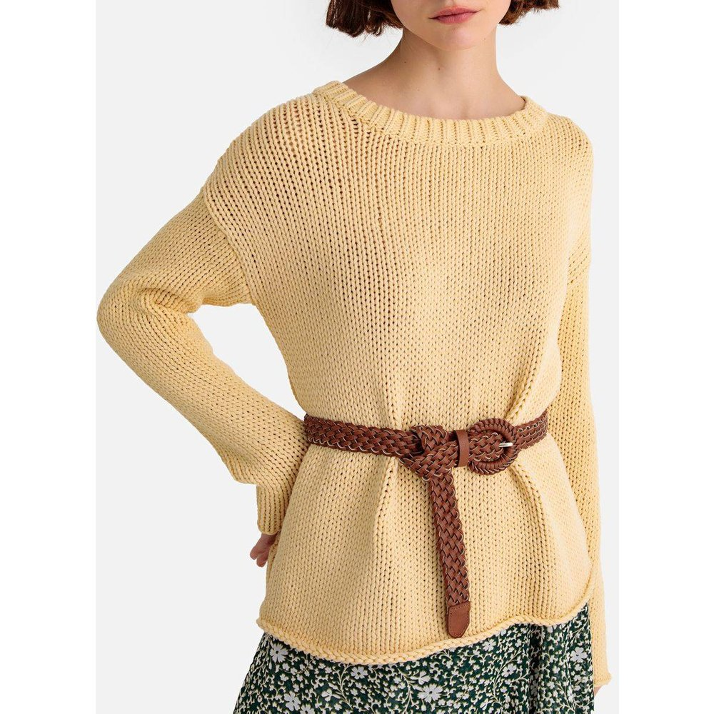 Pull, col rond, grosse maille - LA REDOUTE COLLECTIONS - Modalova
