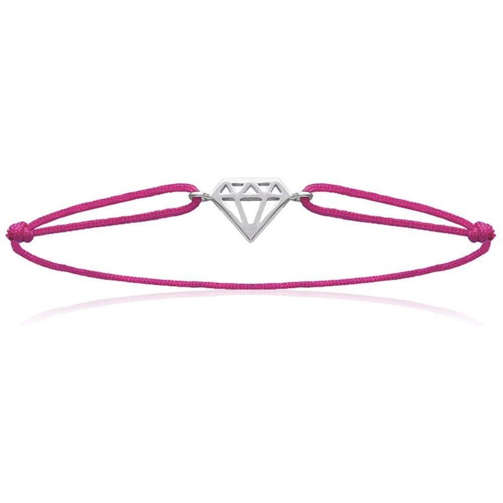 Bracelet cordon DIAMANT Fushia - LORENZO R - Modalova