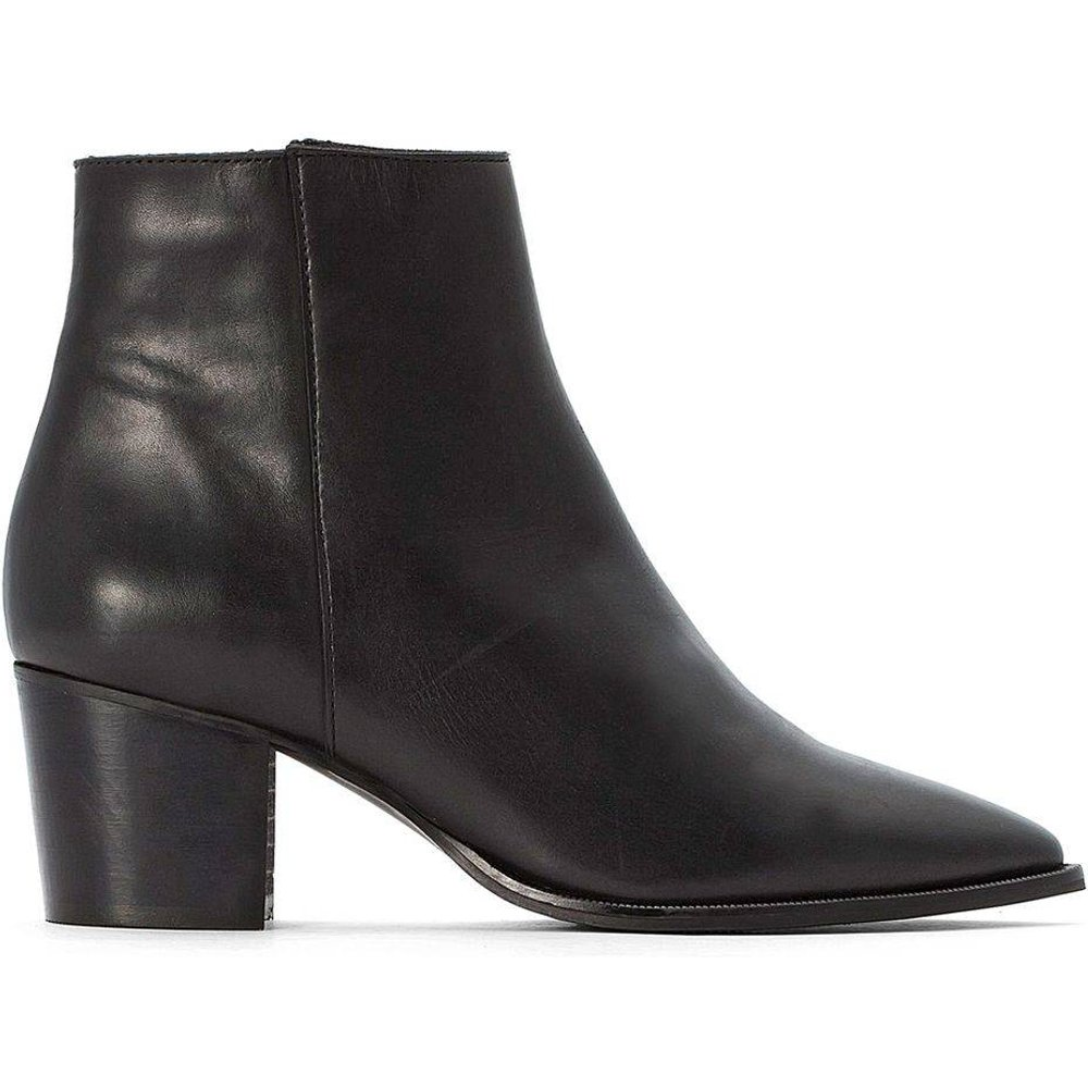 Boots tiag en cuir bout pointu - LA REDOUTE COLLECTIONS - Modalova