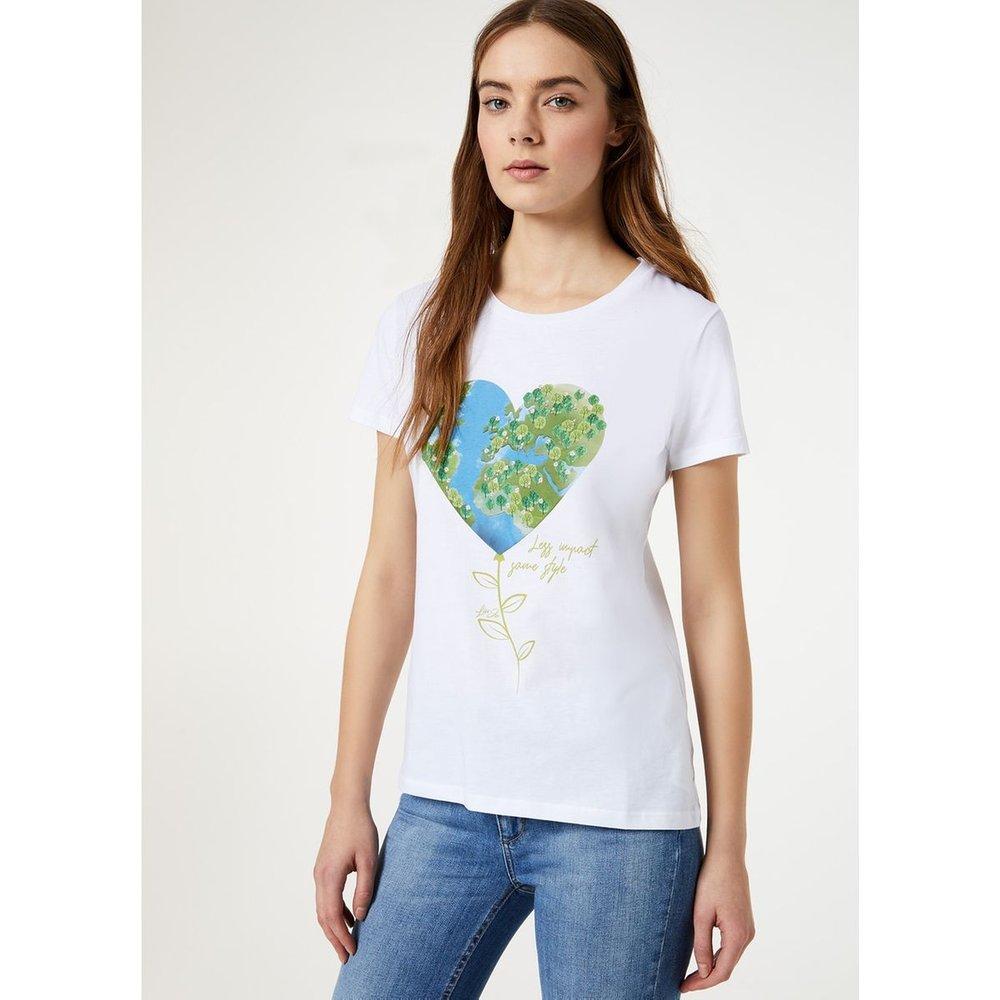 T-shirt écoconçu avec bracelet - LIU JO - Modalova