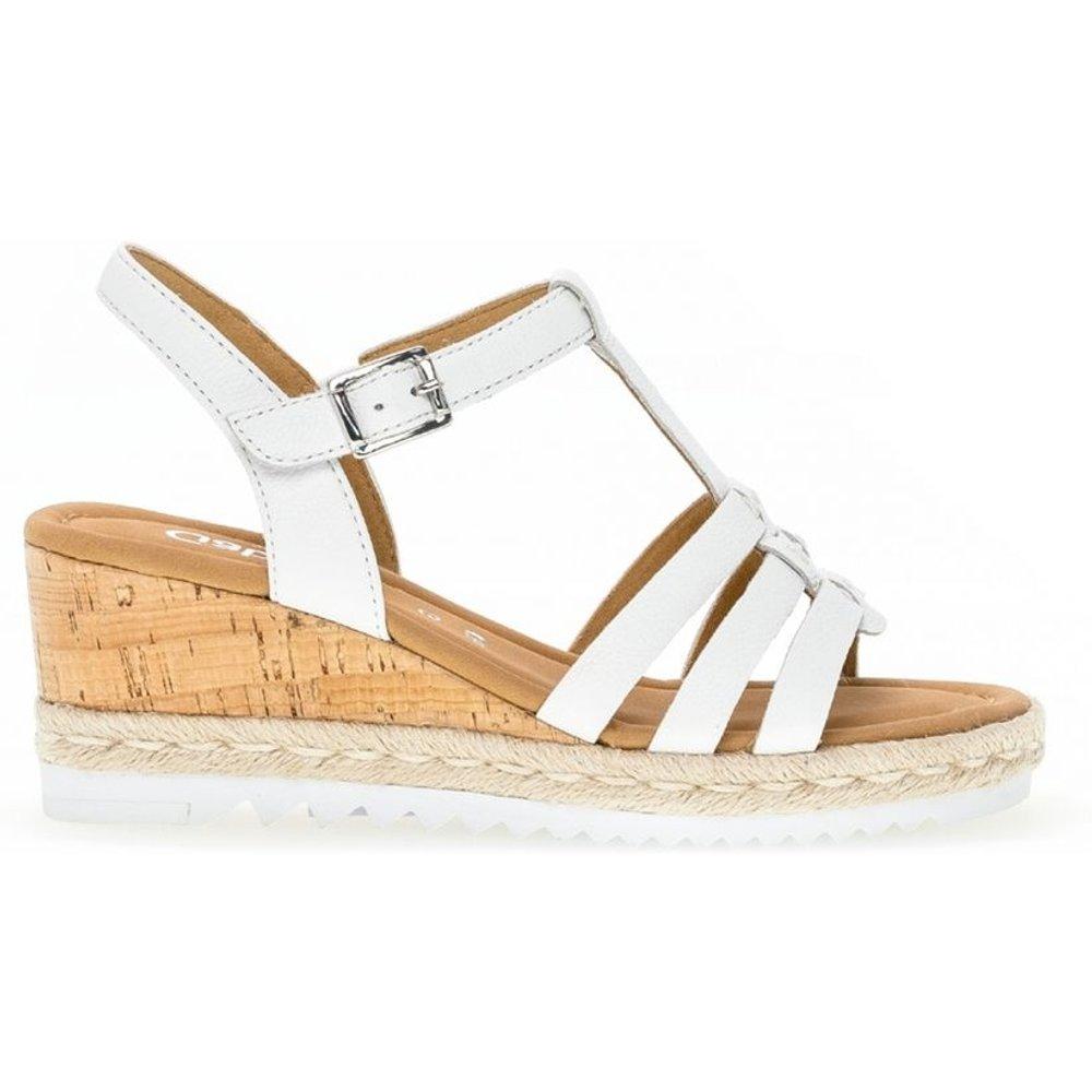 Sandales cuir talon compensé recouvert - Gabor - Modalova