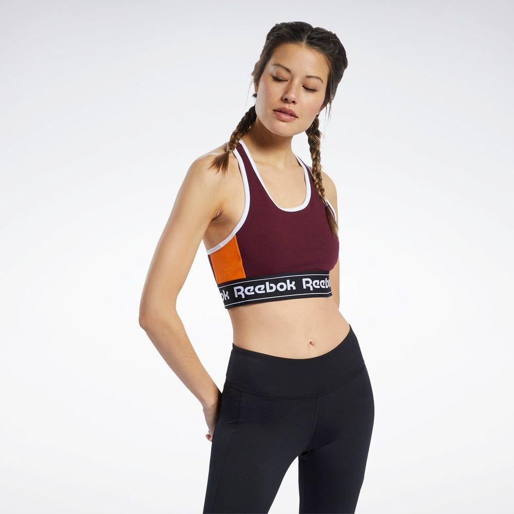 Brassière longue avec logo vertical pour faibles impacts Training Essentials - REEBOK SPORT - Modalova