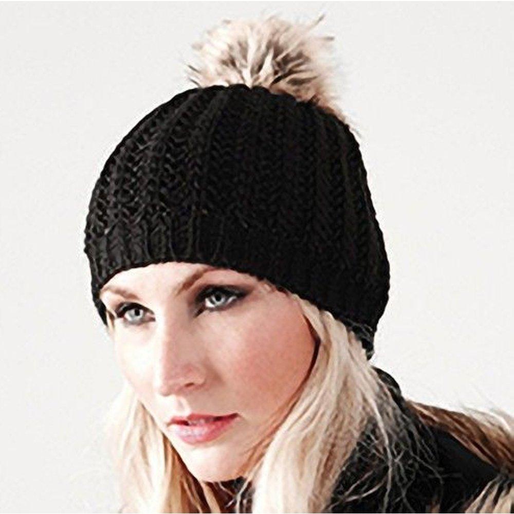 Bonnet tricoté à pompon - BEECHFIELD - Modalova