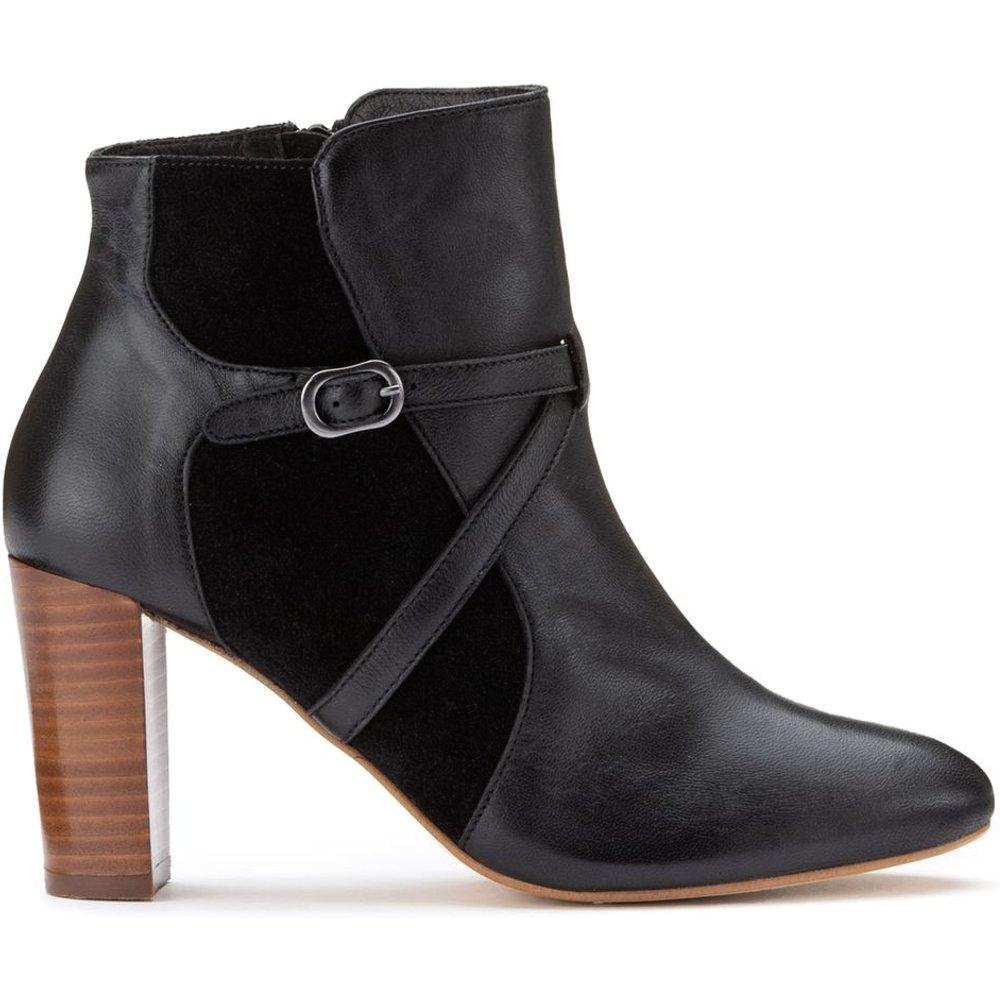 Boots zippées en cuir - LA REDOUTE COLLECTIONS - Modalova