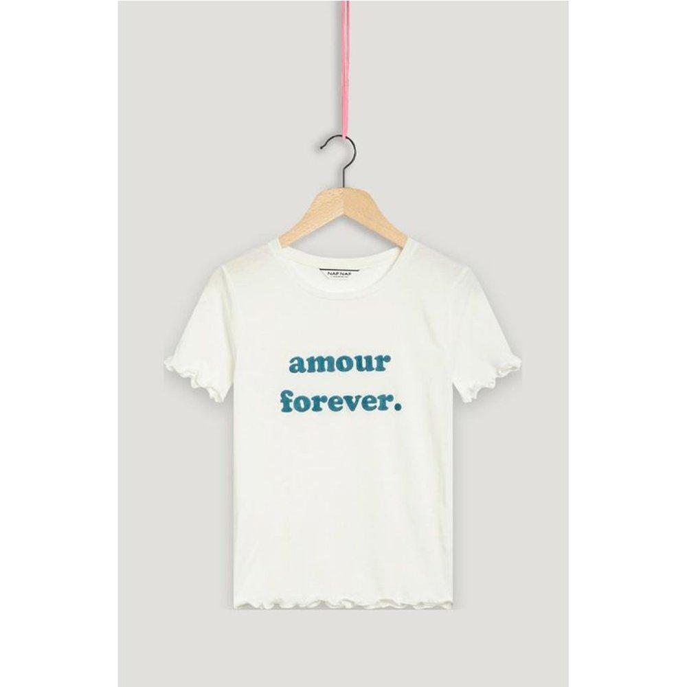 Tee shirt manhes courtes imprimé amour forever - Naf Naf - Modalova