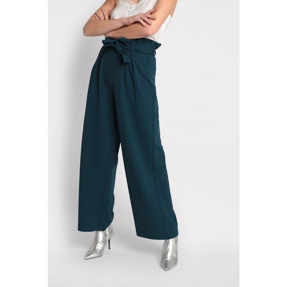 Pantalon large à ceinture - CACHE-CACHE - Modalova
