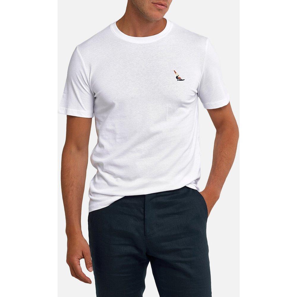 T-shirt col rond manches courtes motif poitrine - LA REDOUTE COLLECTIONS - Modalova