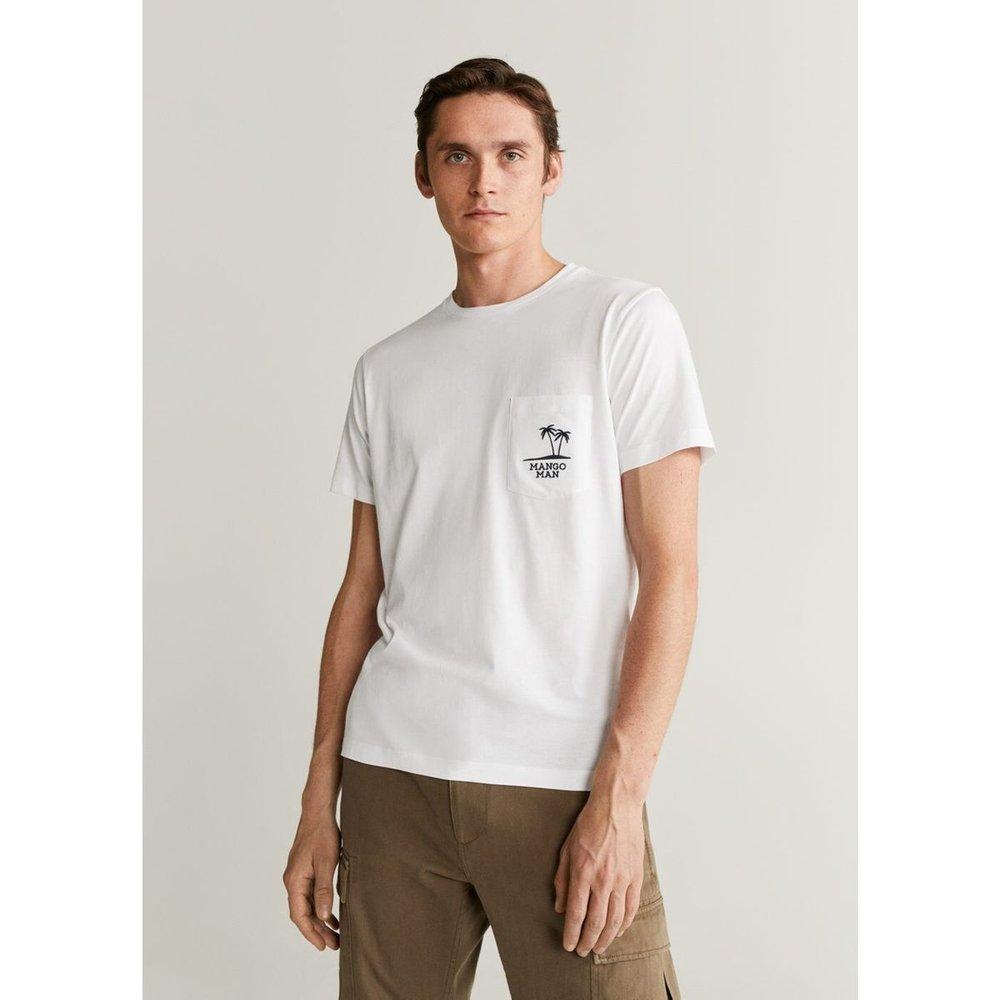 T-shirt logo en coton - mango man - Modalova