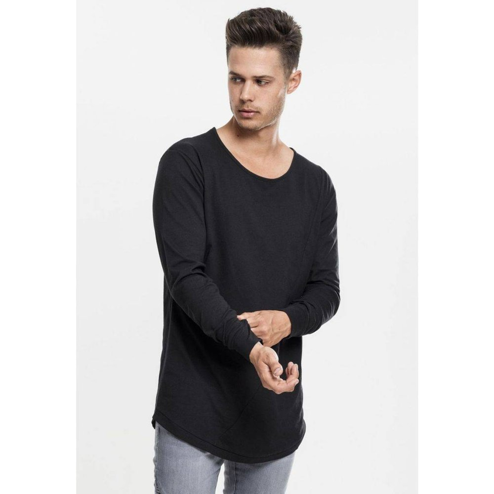 T-shirt long bas arrondi à manches longues - URBAN CLASSICS - Modalova