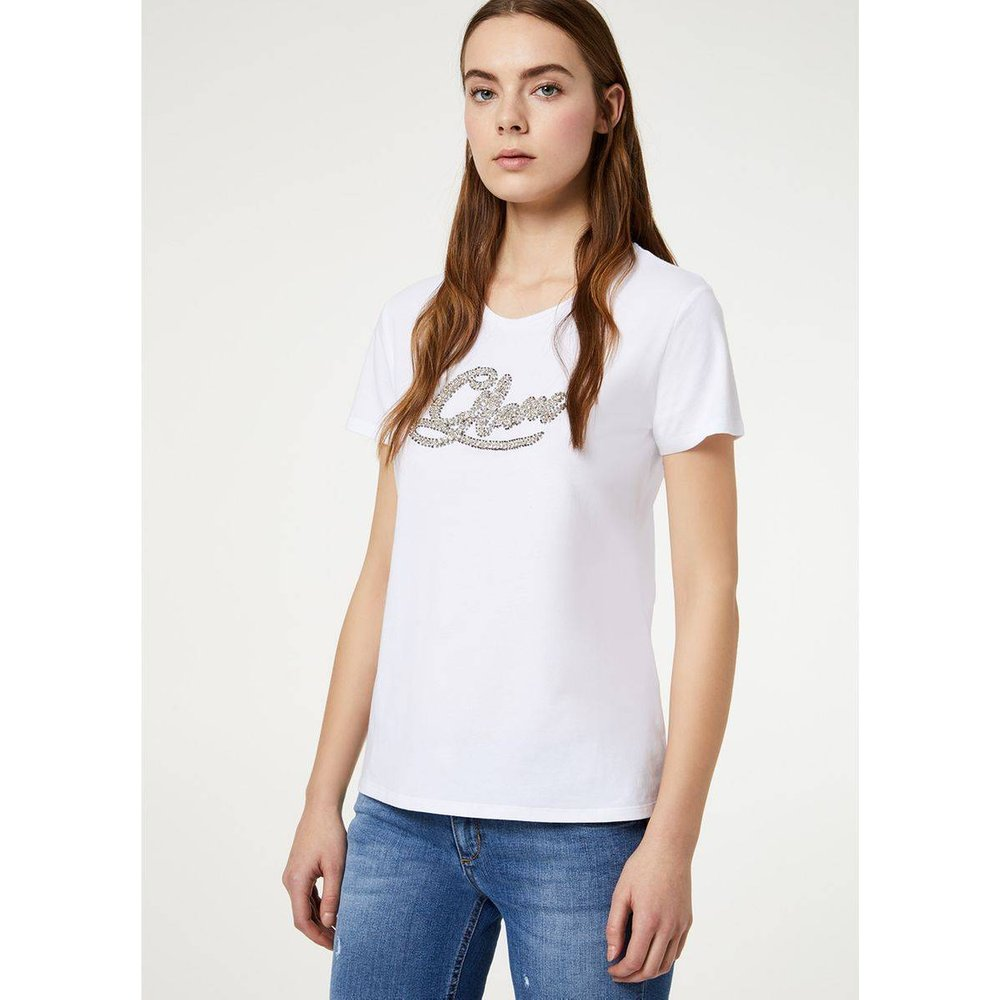 T-shirt orné de pierres - LIU JO - Modalova