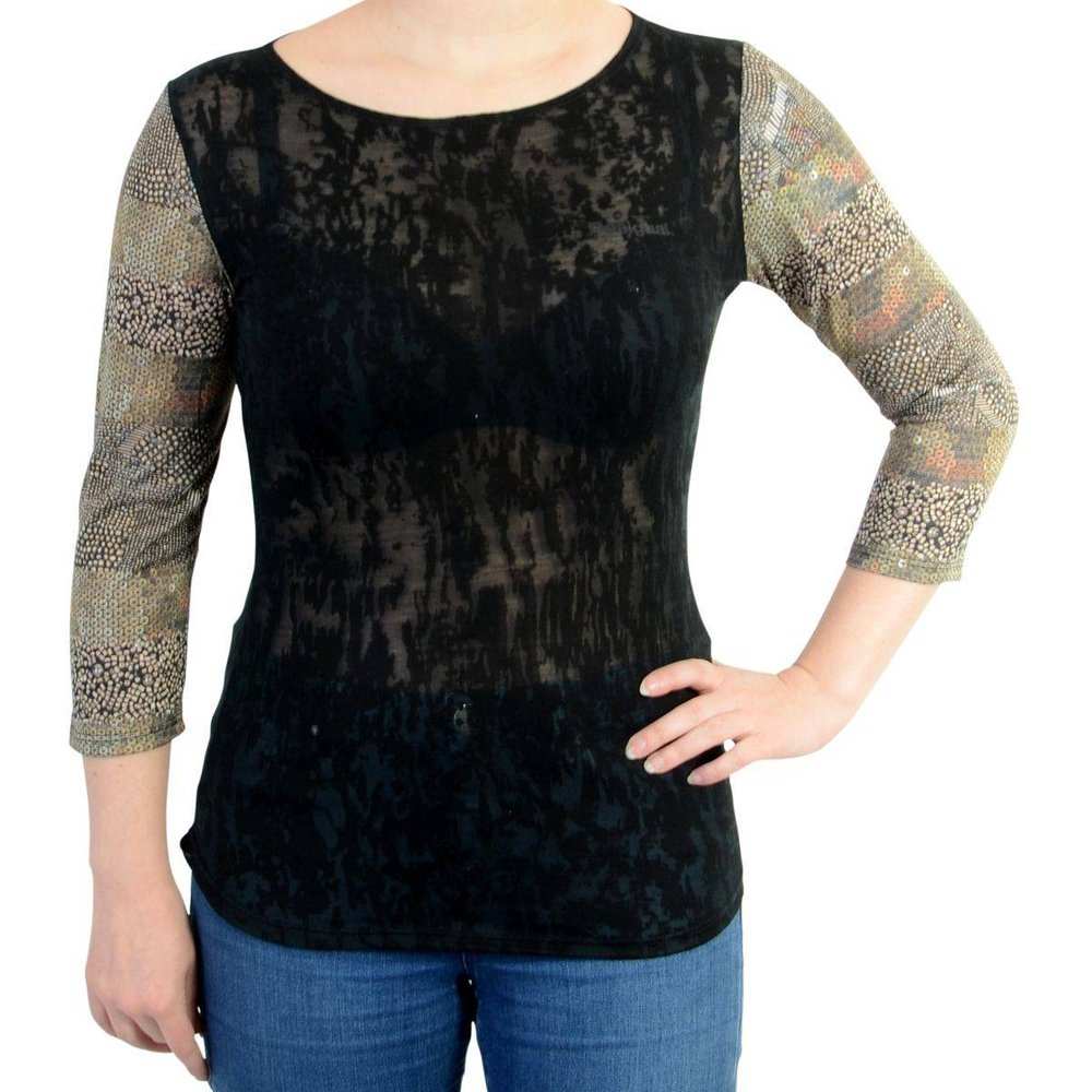 Tee Shirt Sleeve Negro - Desigual - Modalova