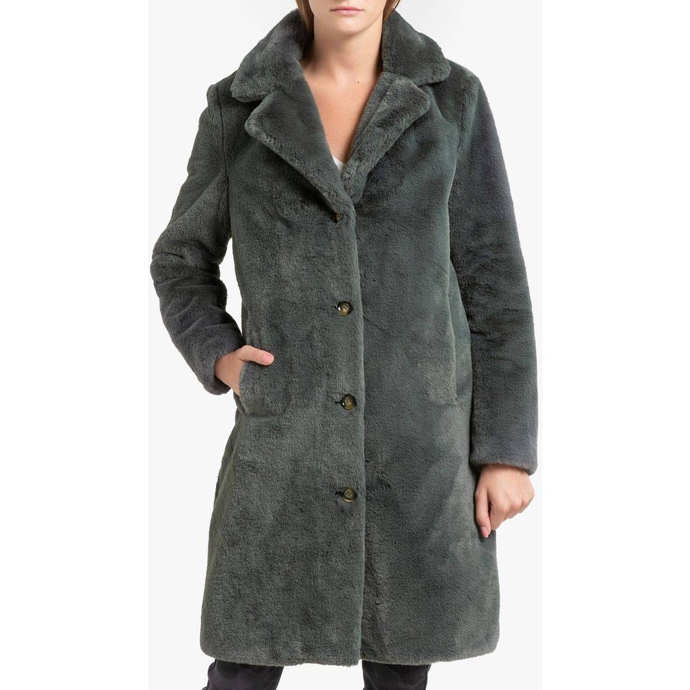 Manteau long boutonné imitation fourrure CYBER - OAKWOOD - Modalova