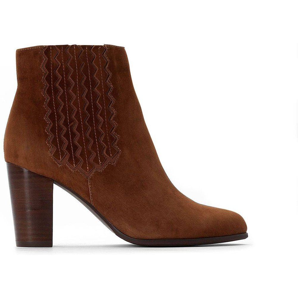 Boots Chelsea cuir - LA REDOUTE COLLECTIONS - Modalova
