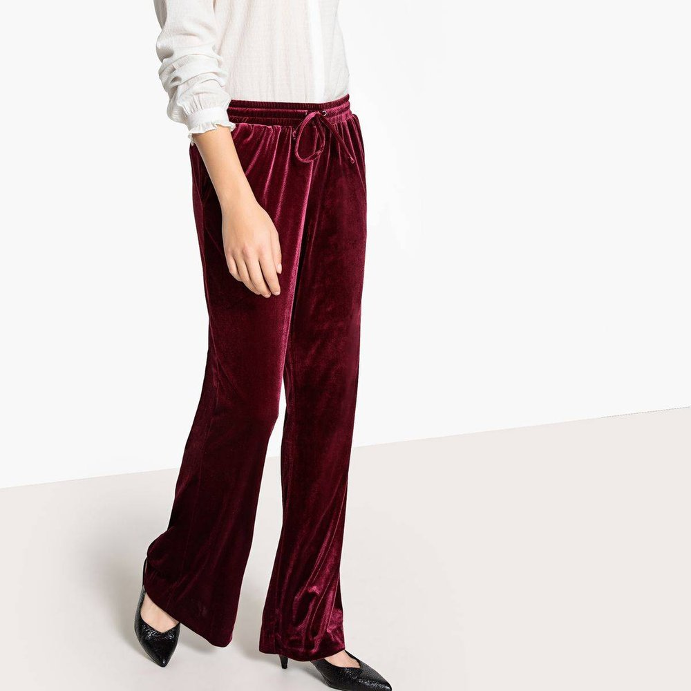 Pantalon large velours - LA REDOUTE COLLECTIONS - Modalova