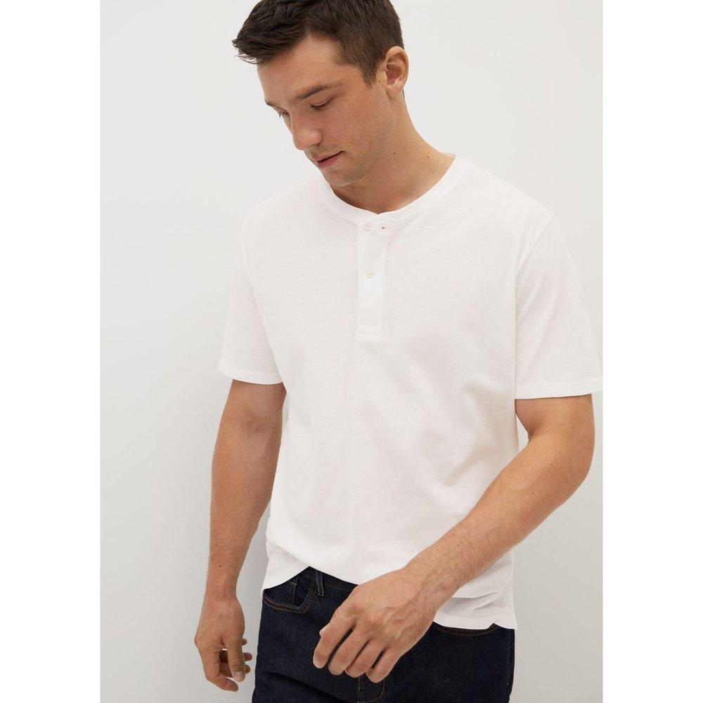 T-shirt coton col tunisien - mango man - Modalova