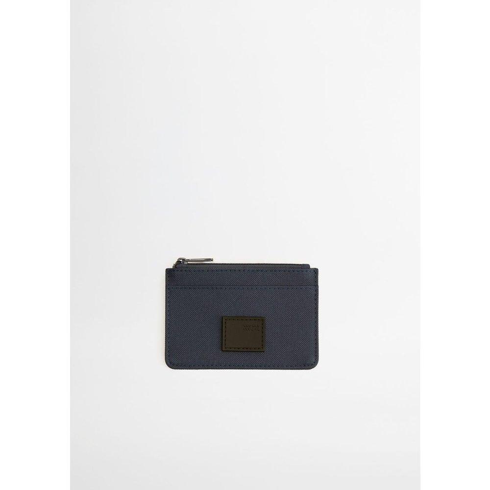 Porte-cartes texturé - mango man - Modalova