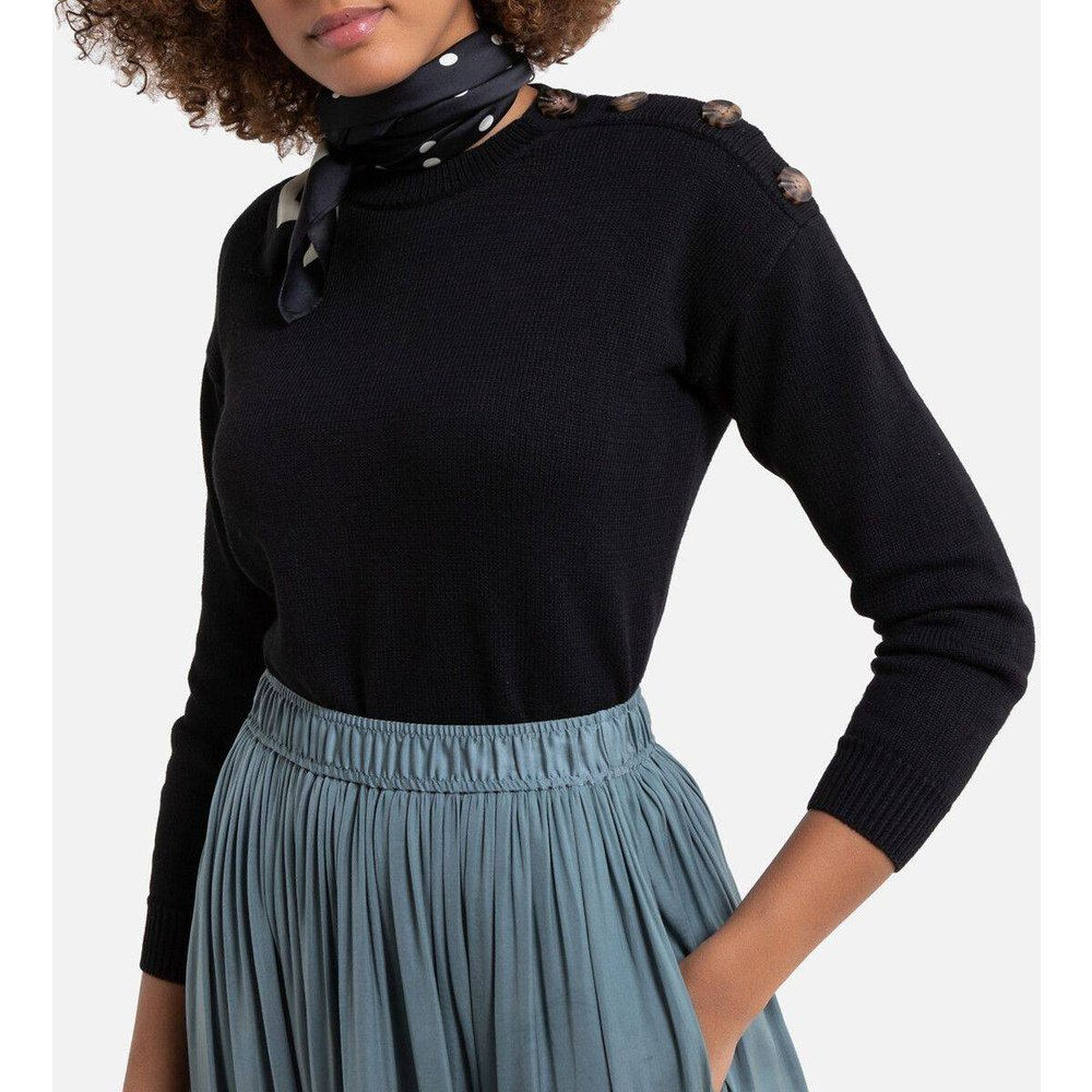Pull col rond, polyester recyclé - LA REDOUTE COLLECTIONS - Modalova