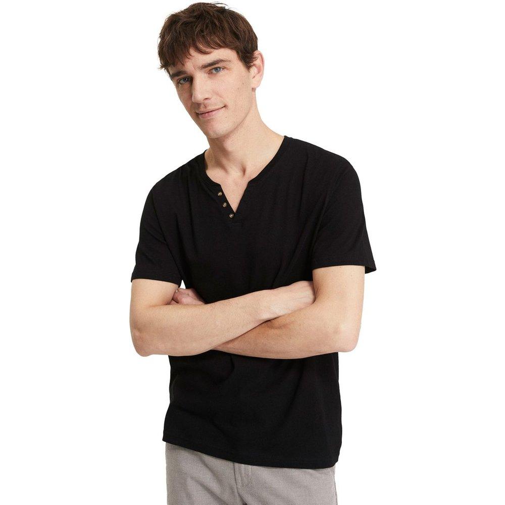 T-shirt col tunisien en coton NEBET - Celio - Modalova