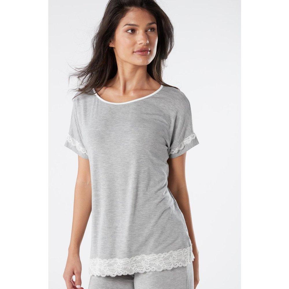 T-Shirt manches courtes en détails dentelle - INTIMISSIMI - Modalova